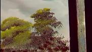 S04 Радостта на живописта с Bob Ross E08 - влажни зони ღобучение в рисуване, живописღ