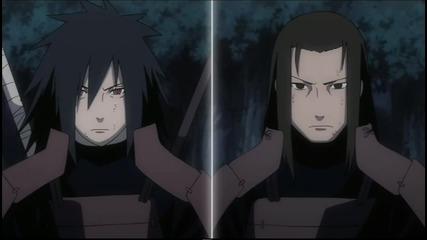 Naruto Shippuuden- (ova) Uchiha Madara and Kyuubi vs Shodaime Hokage Senju Hashirama [японский звук]