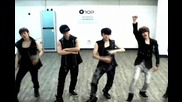 [бг превод] Teen Top - Clap dance practice