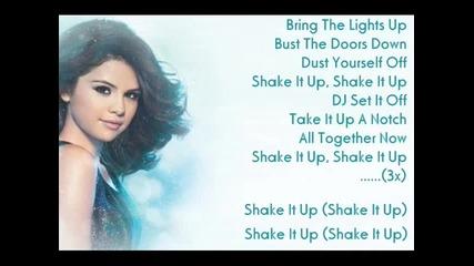 Selena Gomez - Shake It Up+lyrics