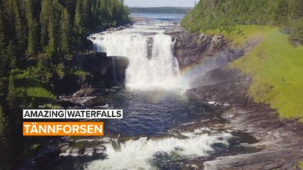 Amazing Waterfalls: Tännforsen is one of Sweden's most beautiful waterfalls