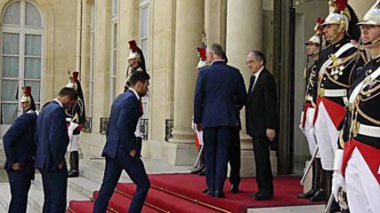 France: Hollande receives football team after Euro 2016 final defeat