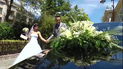 Сватбен ден пресъздаден в няколко минути