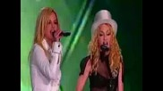 Britney & Madonna - Human Nature (live Los Angeles - Sticky & Sweet Tour 2008) Hq