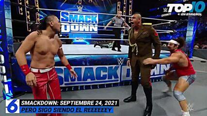 Top 10 Mejores Momentos de SMACKDOWN: WWE Top 10, Sep 24, 2021