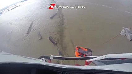 Italy: See dramatic helicopter rescue of man stuck on roof in flood-struck Sicily