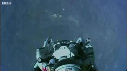 Феликс Баумгартнер свободно падане. Световен рекорд