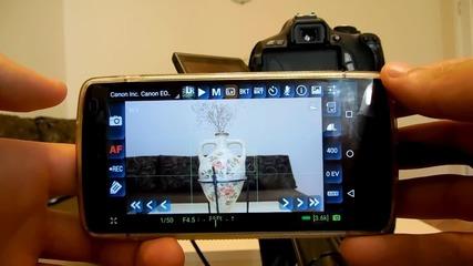 Да контролираш фотоапарат чрез телефона си: DSLRDashboard - SVZMobile