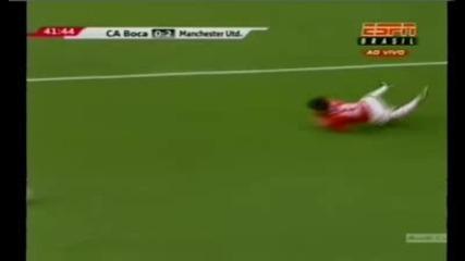 Boca Juniors 0 - 2 Man Utd (valencia goal)