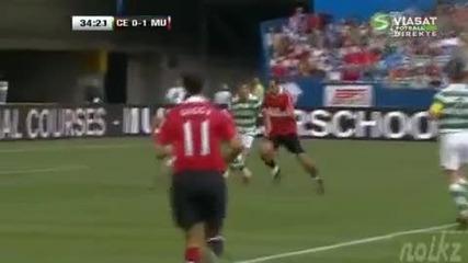 Манчестър Юнайтед 3 - 1 Селтик, Гол на Димитър Бербатов