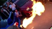 Звяр , бълва пламъци ! Subaru anti - lag