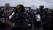 USA: 'You will not stand for modern-day lynching' - protesters hold rally outside Brooklyn Center police station