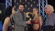 Emotional reactions from the Flair family to Charlotte's Nxt Women's Title win