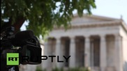 Greece: Troika inspectors arrive at State General Accounting Office in Athens