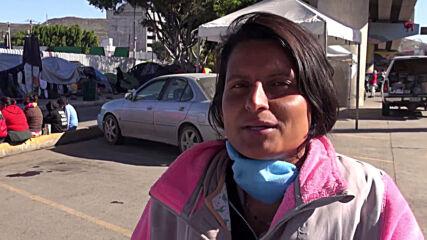 Mexico: Hundreds camp at US-Mexico border in Tijuana hoping for asylum