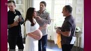Jennifer Love Hewitt Shows Off Her Huge Baby Bump in Crop Top