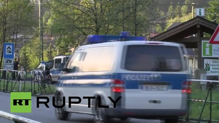 Germany: Security forces prepare for G7 leaders' arrivals at Elmau