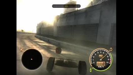 Скок с бъгната кола(lexus) на/в Nfs Mw(съжалявам за качеството!)
