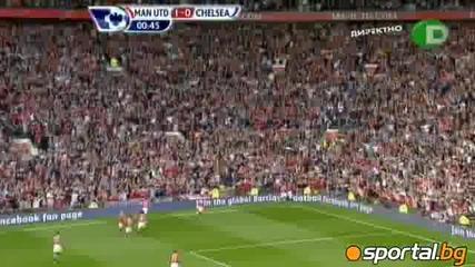 Манчестър Юнайтед - Челси 1-0 само за 37 секунди игра