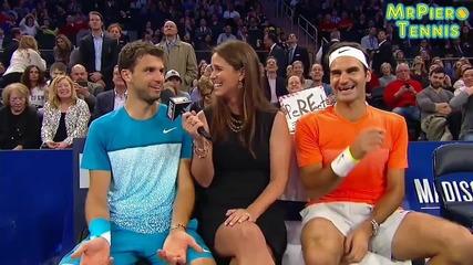 Григор Димитров vs Роджър Федерер Невероятно Отиграване !