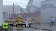 USA: Firefighters battle industrial blaze in Los Angeles