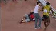 Инцидент със световния шампион Юсеин Болт