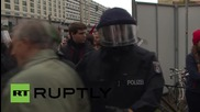 Germany: Scuffles erupt as Antifa demo blocks-off AfD anti-refugee rally