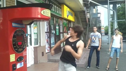 Луд руснак удря круша със салто