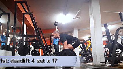 90 дневна трансформация | Изграждане на мускул, горене на мазнини | Ден 31 - Гръб | Мъртва тяга