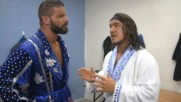 Chad Gable shows Bobby Roode his prototype robe: WWE.com Exclusive, Nov. 5, 2018