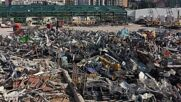 Lebanon: Beirut blast site a brazen wasteland one year after deadly port explosion *DRONE FOOTAGE*