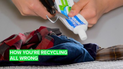Here's how you SHOULD be recycling toothpaste tubes