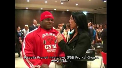 (превод) Kai Greene In Italy - Interview part 1