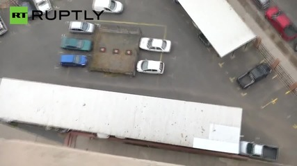 CCTV Footage - Man Plummets from 17 Floors and Survives