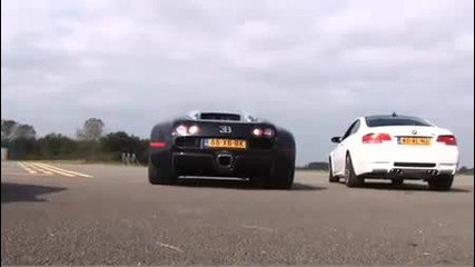 bugatti veyron vs bmw m3 e92 (hq 480p)