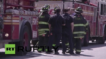 USA: Devastated family of Staten Island shooter at scene of crime