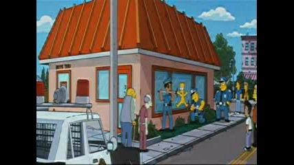 Bart Simpson Кара Скейтборд Гол :)