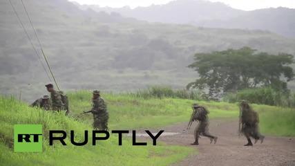 Обучение на панамски войници за борба с наркокартелите