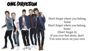 One Direction Lyric - Dont Forget Where You Belong