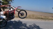 Honda crf 450r wheelie practice at Bulgaria ...the best