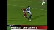 Перлата Неи заби два гола, Клуж оглави класирането в Румъния