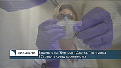 """Ваксината на """"Джонсън и Джонсън"""" осигурява 85% защита срещу коронавируса"""