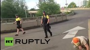 USA: Protesters clash with police at May Day demo in Portland