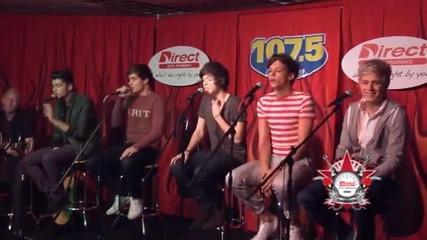 One Direction Изпълняват - What Makes You Beautiful - Интервю за 107.5 The River - Нашвил част 3/3