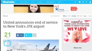 United Ends Service to New York's JFK