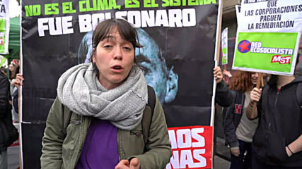 Argentina: Protesters gather outside Brazilian embassy over Amazon wildfires