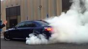 Massive Bmw M5 Burnout - Agency Power Header Back Exhaust