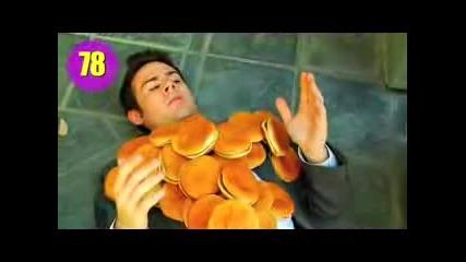 Ненормално! 100 Хамбургера върху човек !!!