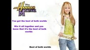 Hannah Montana - Best Of Both World Official Karaoke Version