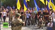 Ukraine: Odessa nationalists rally for those arrested for killing reporter Oles Buzina